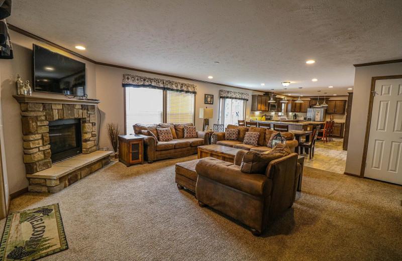 Cabin interior at Sand Lake Resort.