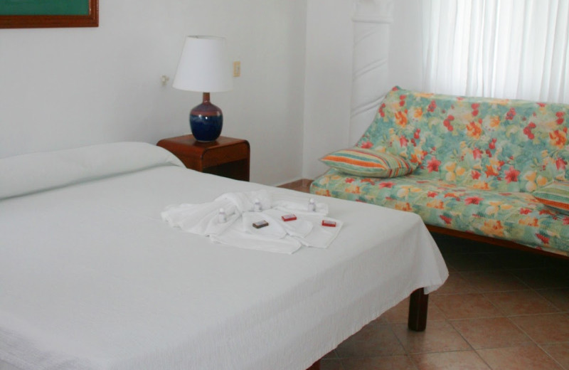 Guest room at Hotel Alhambra.