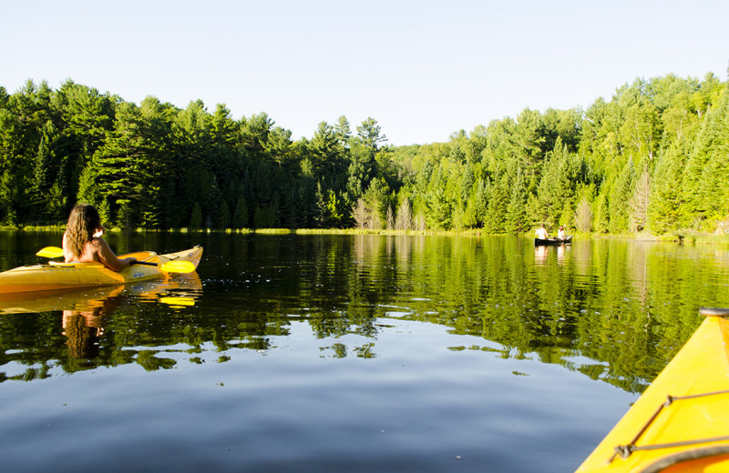 Take one of our kayaks, canoes or other wather craft out onto our private lake.