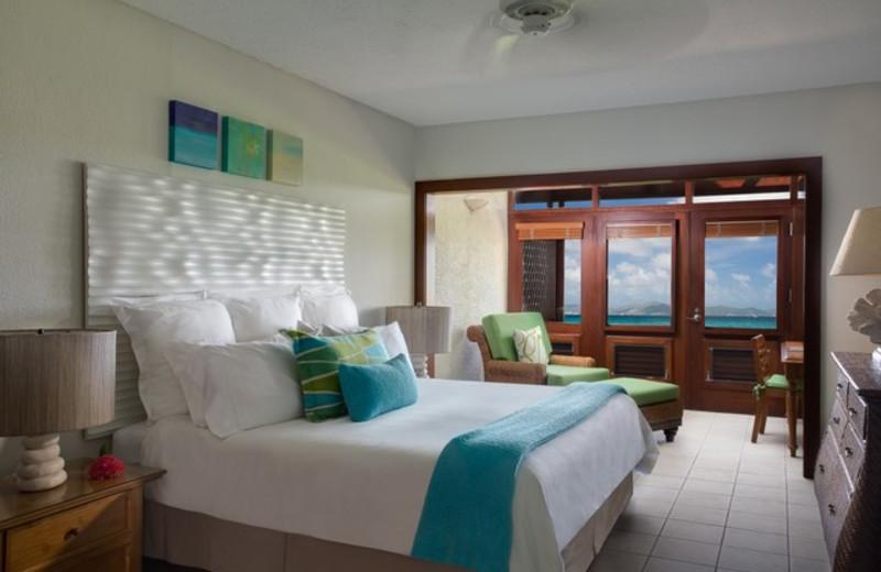 Guest room at Peter Island Resort.