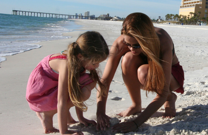 Playing in the sand at Grand Panama Beach Resort.