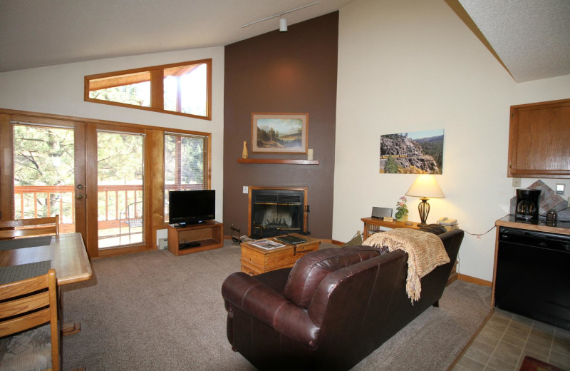 Guest living room at Woodlands On Fall River.