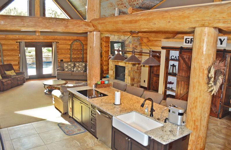 Rental interior at Log Country Cove.