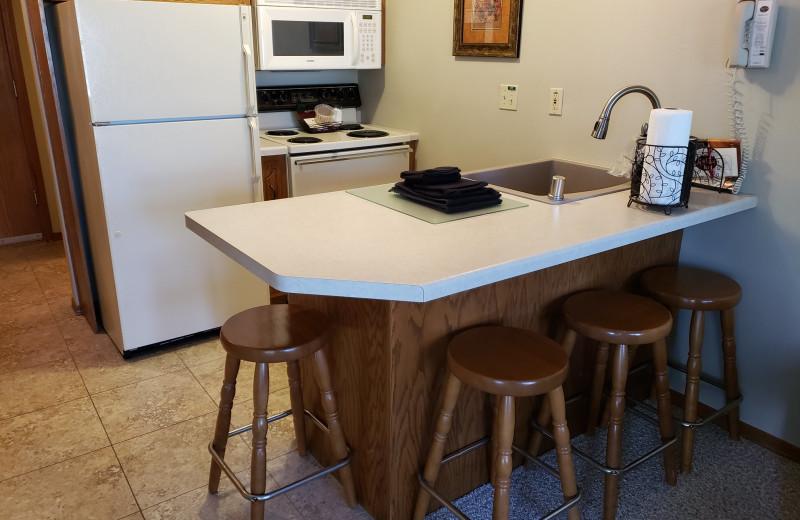 Guest kitchen at High Point Inn.