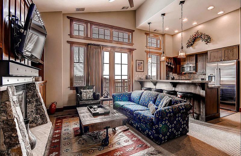 Rental living room at Breckenridge Rentals by Owner.