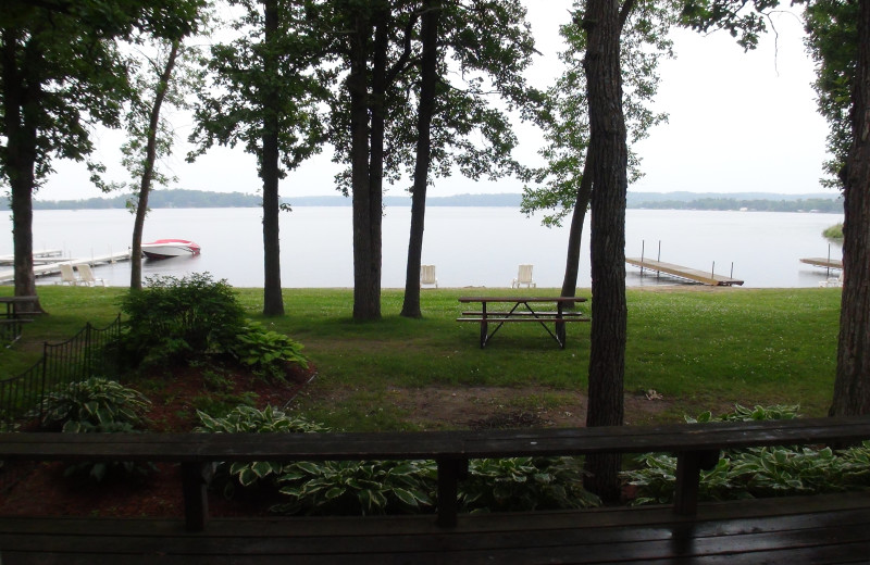 View of lake at Gull Lake Resort.