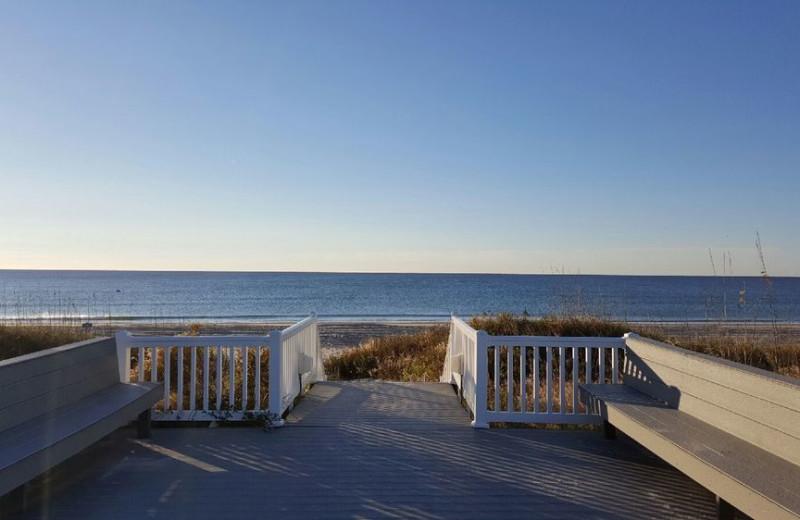 Beach view at Islander Hotel & Resort.