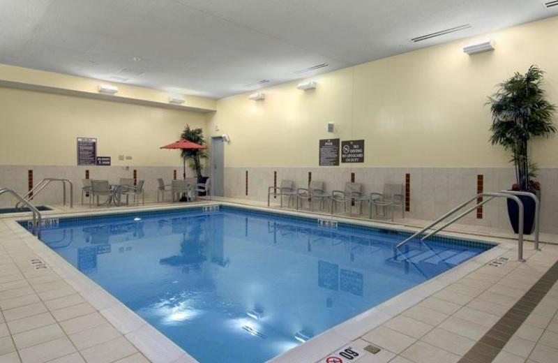 Indoor pool at Hilton Bloomington.