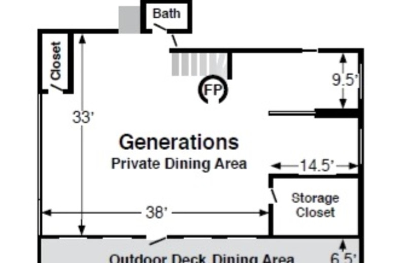 Private Room Upstairs at Generations