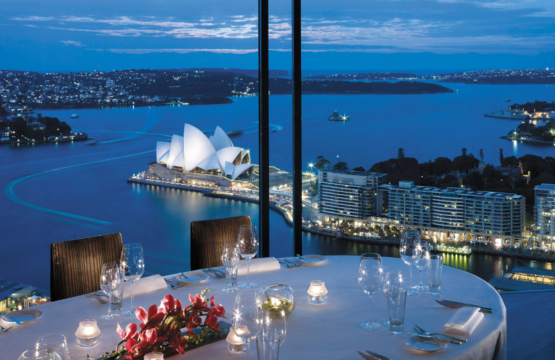 Dining at Shangri-La Hotel, Sydney.