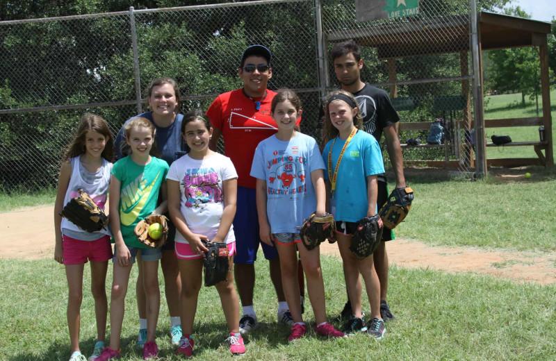 Baseball at Camp Balcones Spring.