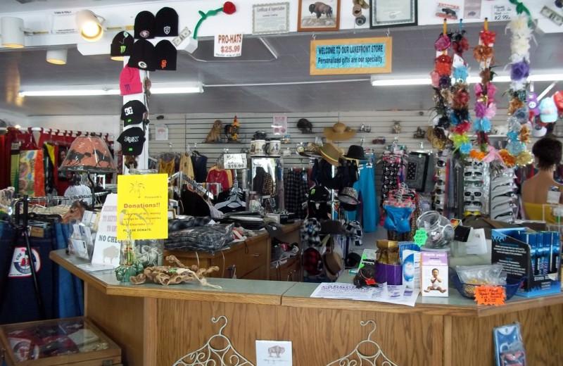 Gift shop at Ferndale Resort & Marina.