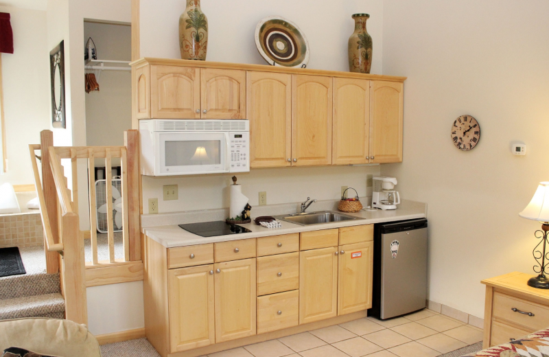 Suite kitchen at Sunnyside Knoll Resort.