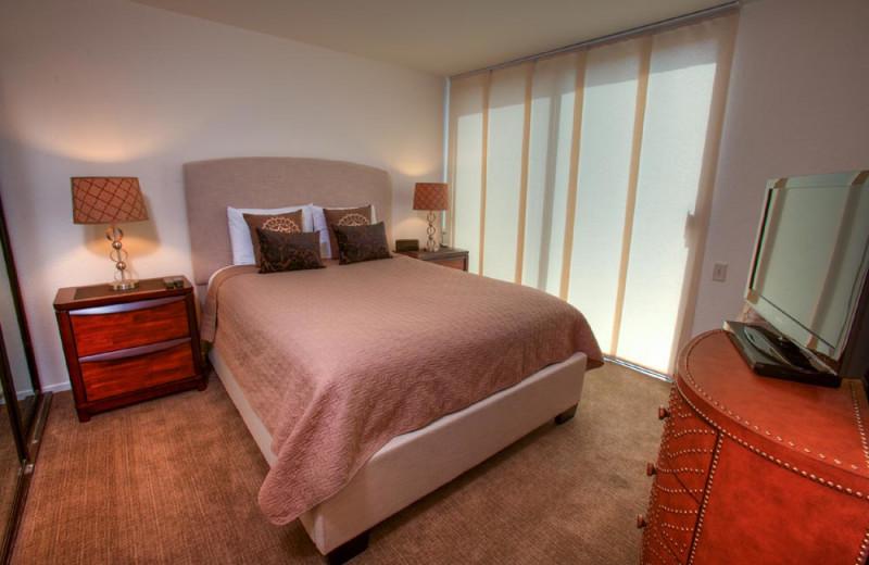 Rental bedroom at Sundance Villas.