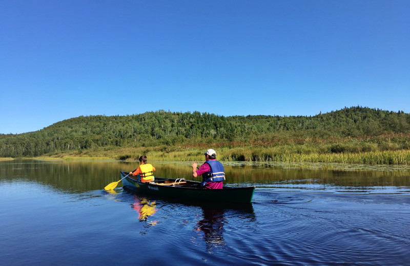 Canoeing at Temperance Landing on Lake Superior.