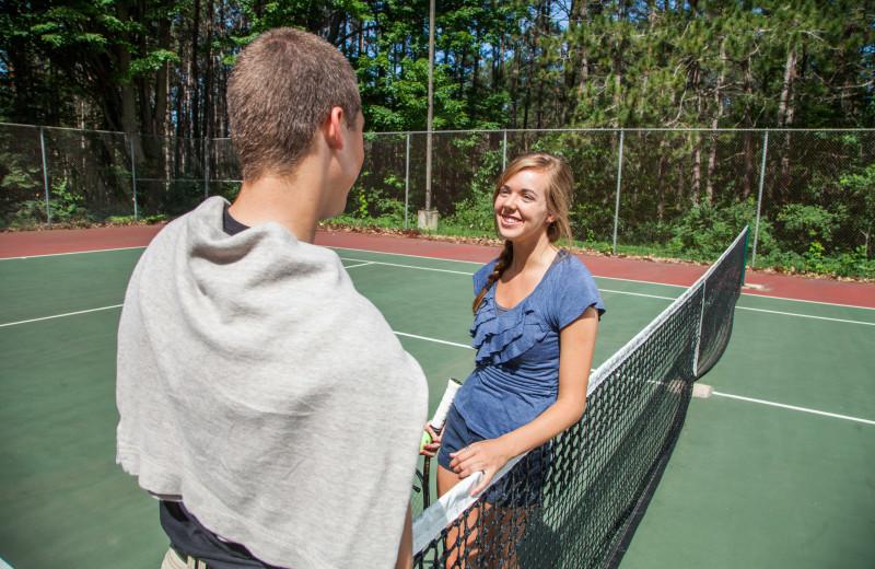 Tennis court at Evergreen Resort.