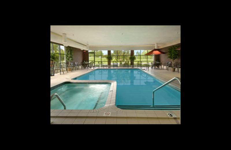 Indoor pool at Baymont InnSuites Traverse City.