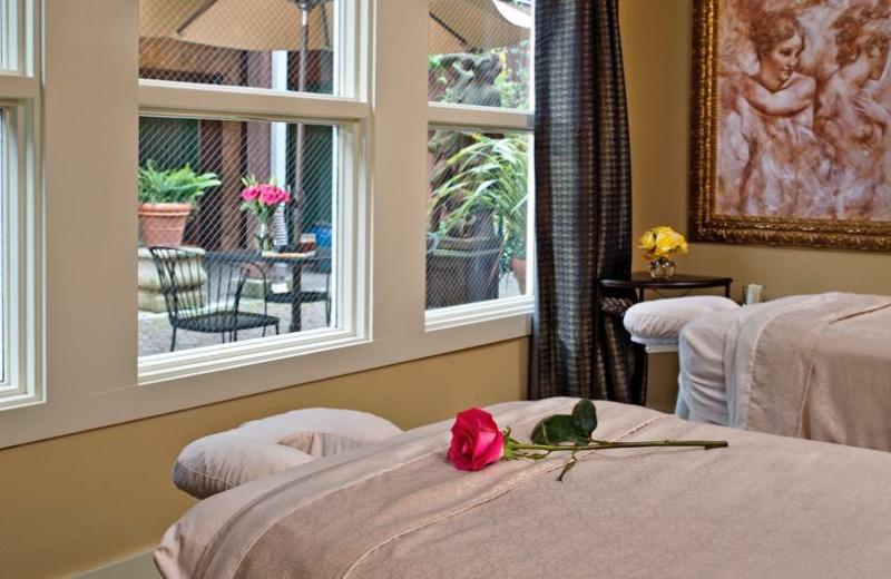 Spa massage tables at Applewood Inn, Restaurant and Spa.
