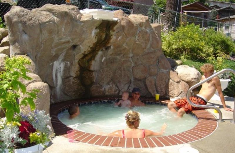 Hot tub at Boulders Resort.