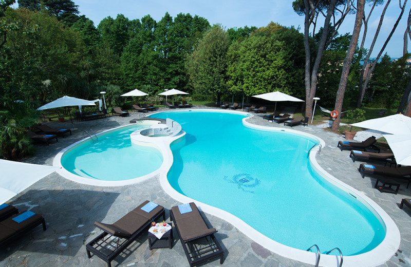 Outdoor pool at Grand Hotel & La Pace.