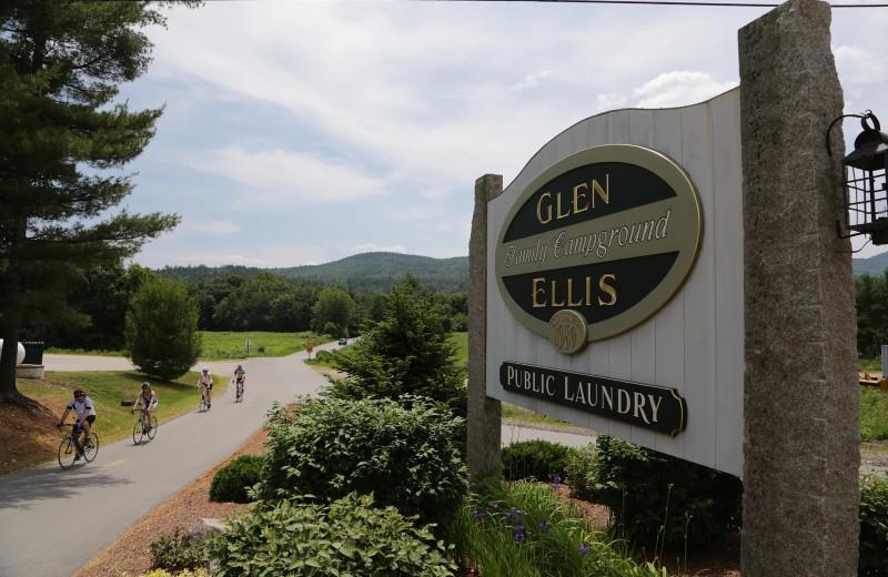 Biking at Glen Ellis Family Campground.