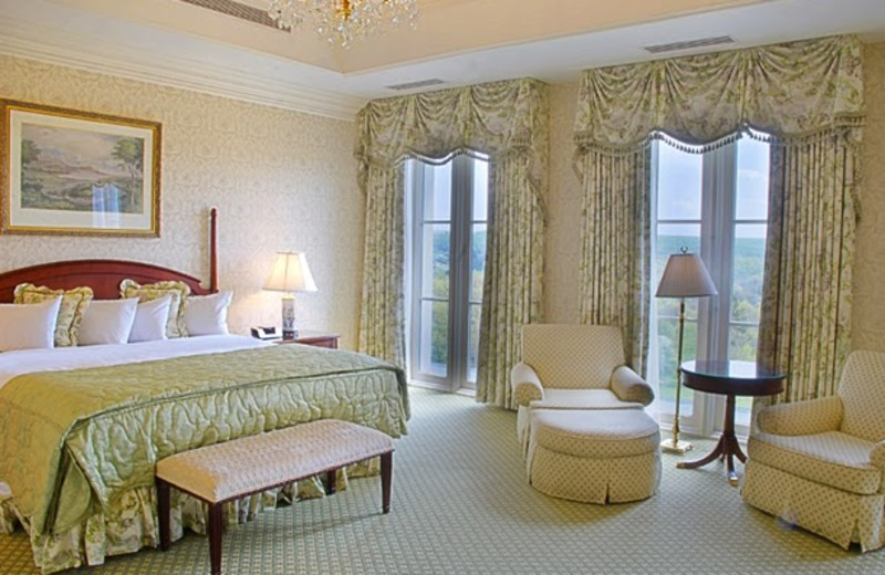 Guest room at Nemacolin Woodlands Resort.