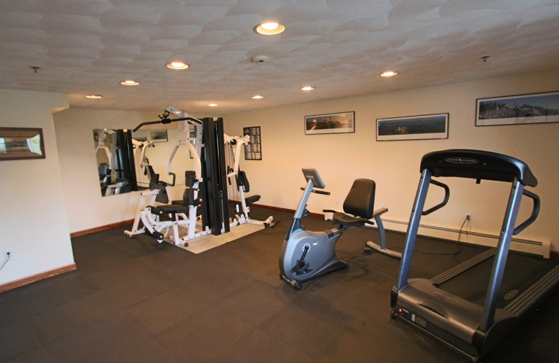 Fitness room at Mariner Resort.
