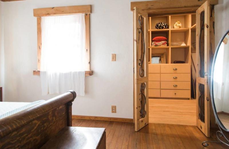 Cabin closet at Cabin 71.