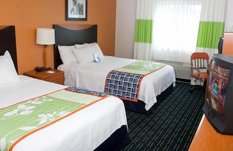 Guest room at Fairfield Inn Fort Worth.