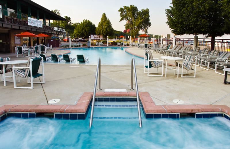 Outdoor pool at Harbor Shores.