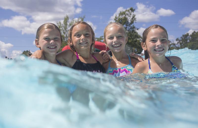 Kids in pool at Mountain Creek Resort.