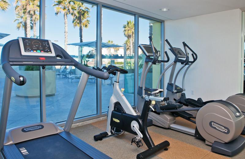 Fitness room at Pier South Resort.
