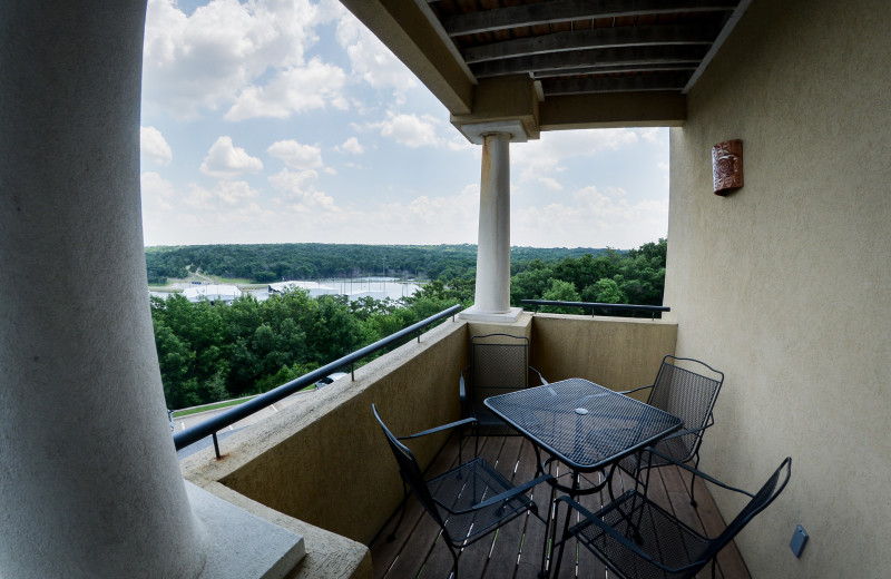 Villa Private Balconies and Patios at Tanglewood Resort and Conference Center.