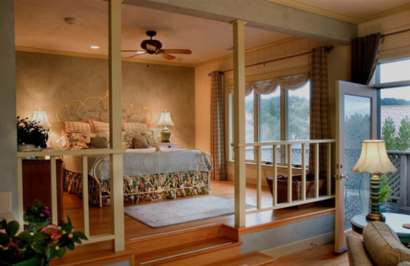 Cottage room at Wine Country Inn.