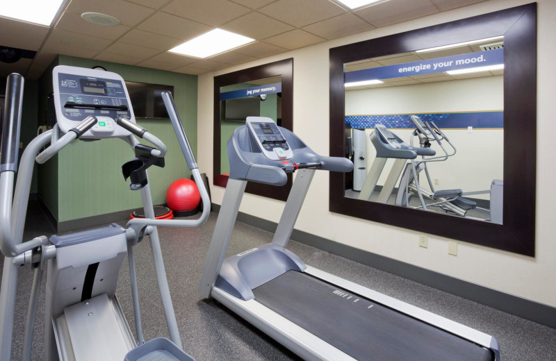 Fitness room at Hampton Inn Duluth Canal Park.