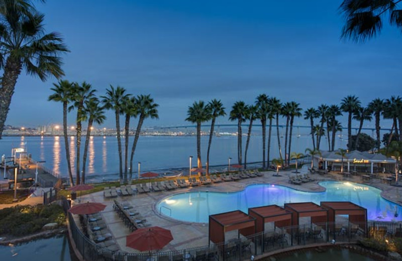 Outdoor pool at Marriott-Coronado Island.