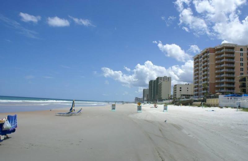 Beach view at Daytona Shores Inn and Suites.