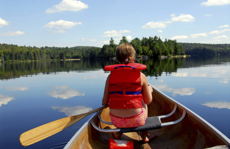 Canoeing at Buffalo Point Resort.