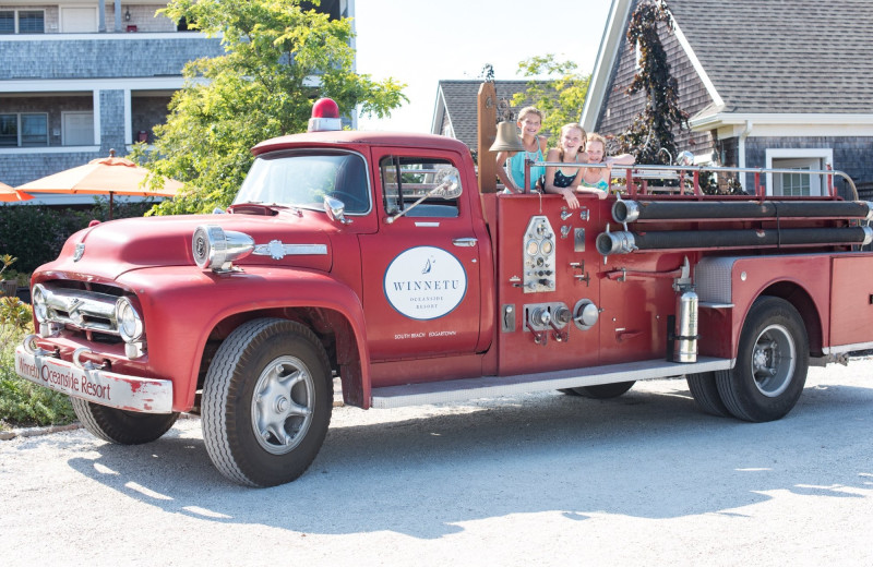 Truck at Winnetu Oceanside Resort.
