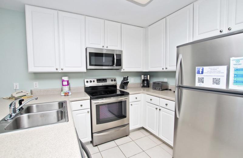 Rental kitchen at Paradise Gulf Properties.