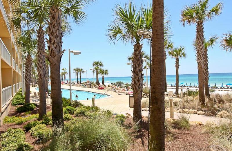 Outdoor pool at Calypso Resort & Spa.