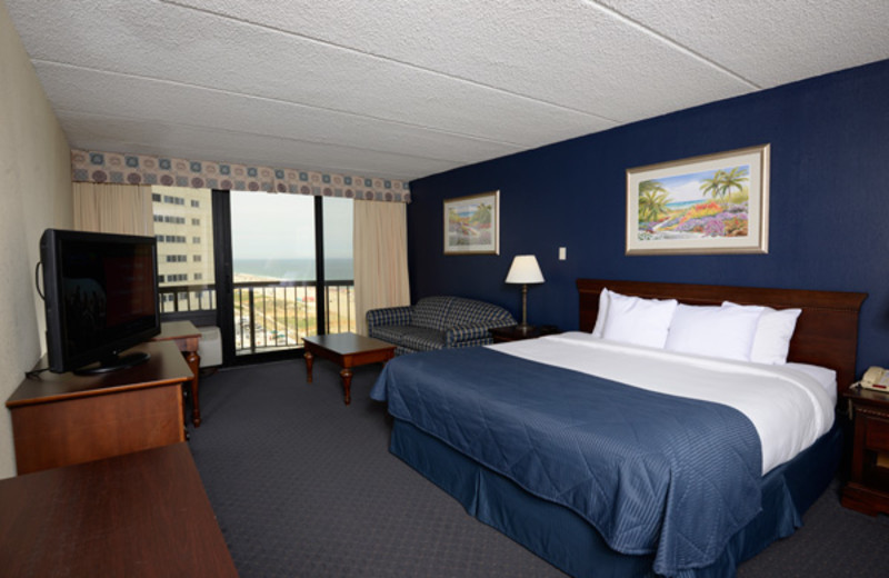 Guest room at Clarion Resort Fontainebleau.