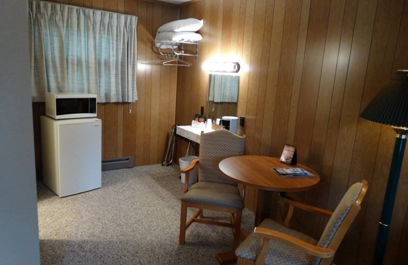 Guest room at Buckhorn Resort.