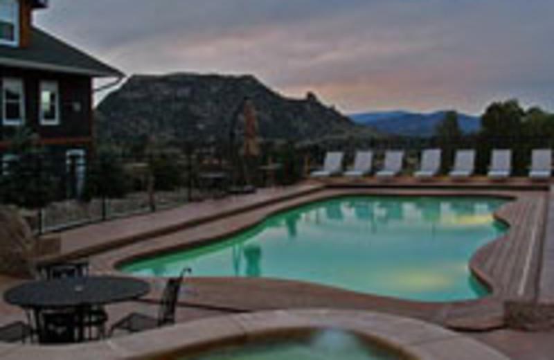 Pool View at Marys Lake Lodge