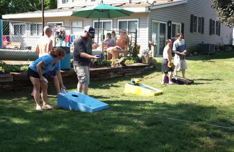 Family activities at Tetonka Lake Resort.