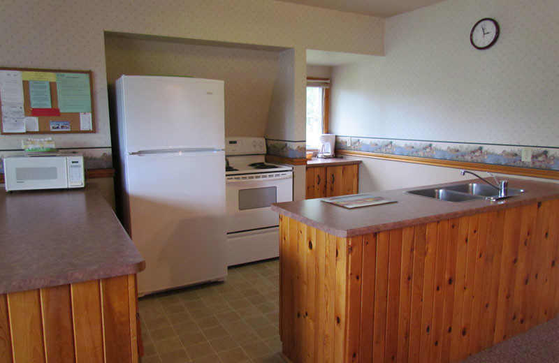 Guest kitchen at Pine Vista Resort.