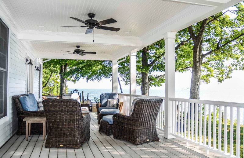 Rental deck at Finger Lakes Premiere Properties.