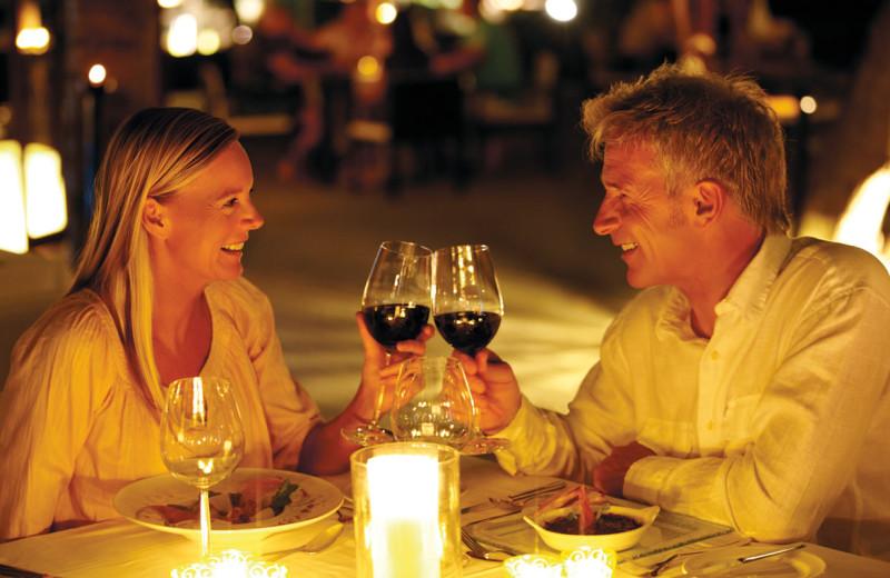 Romantic dining at Quail Lodge Resort.
