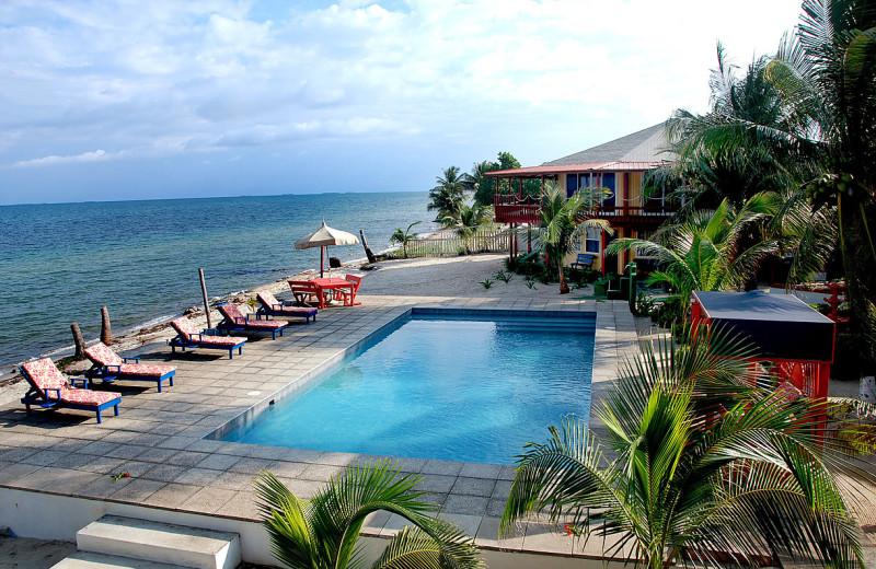 Outdoor pool at Nautical Inn Resort.
