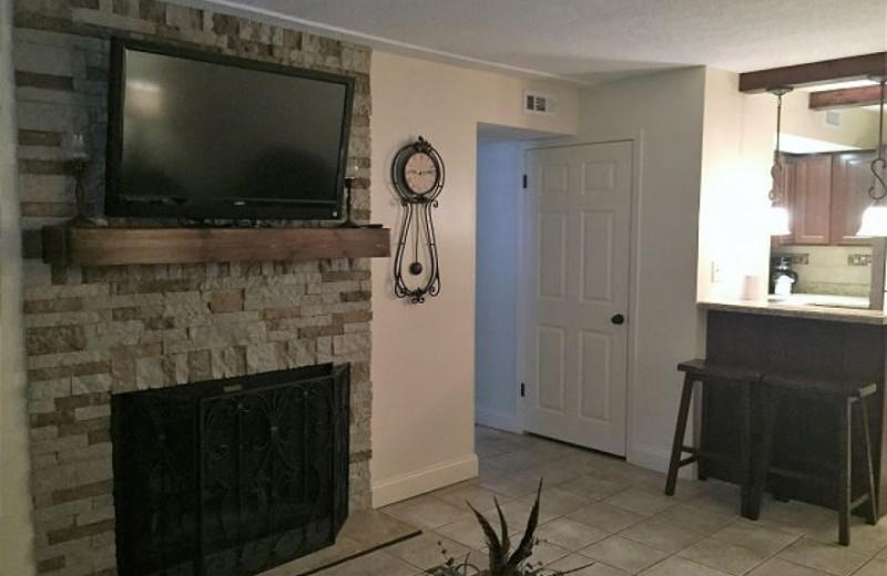 Rental living room at Oak Square Condos.